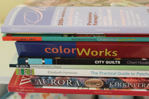 March Stack of Books - close
