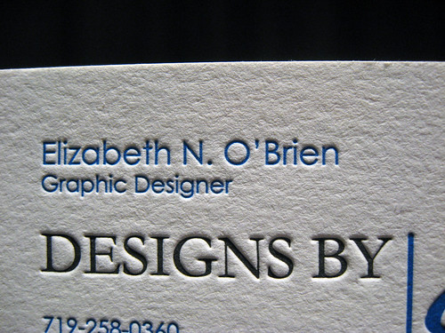 Graphic Designer Letterpress Business Card