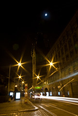 Sprvagn (Andreas Hagman) Tags: light night long exposure prague sony tram sigma rail prag praha le alpha 1020 sprvagn v jindisk