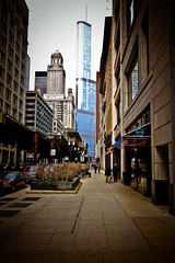 Gleaming Tower of Trump (RichardDemingPhotography) Tags: longexposure windows people urban chicago streets brick cars glass stairs canon reflections rust downtown availablelight brokenglass trumptower lakeview canoneos lincolnpark doorways thel fastcars chicagoillinois roscos abandonedfactories cityofchicago canonlglass urbanexplorations tacksharp attentiontodetail northhalstead canoncameras apocalypsedecadence canon1dmarkiv canonworldwide garynutbolt canon1635mmf28seriesiillens canonproshooters urbexexplorers sidewalksinchicago lostforgotten amazingurbex
