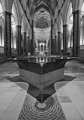 The Font Salibury Cathedral (tramsteer) Tags: longexposure water fountain architecture photoshop mono lowlight nikon cathedral edited faith tripod christian font salisbury backlit slate salisburycathedral anglican churchofengland wonderfulworld williampye explorepage elitephotography nikond300 tramsteer brucemunro