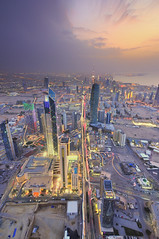 Kuwait  My City from above (Talal Al-Duolye) Tags: blue sunset nikon tokina hour kuwait f28  talal q8  d300 kwt   a   1116mm  tokina1116mmf28