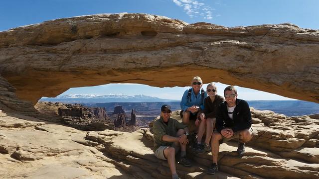 Family at Mesa Arch