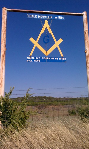 Chalk Mountain Lodge Sign, Chalk Mountain, Texas by fables98
