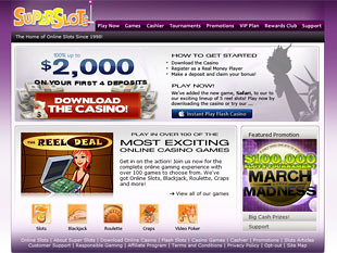 Super Slots Casino Home
