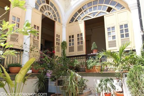 Courtyard at Hostal Zocalo