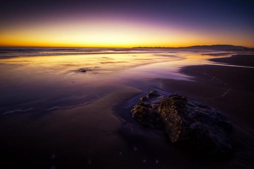 フリー写真素材, 自然・風景, ビーチ・砂浜, 夕日・夕焼け・日没, アメリカ合衆国, カリフォルニア州,