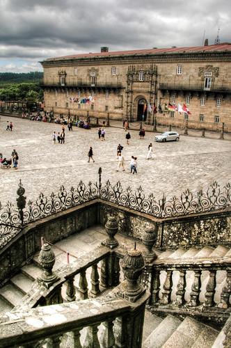 Cathedral stairs. Santiago de Compostela. Escaleras de la catedral