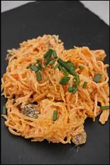 5551962715 650ebe0b5d m Spring Roll au poulet et piment vert – Salade de carotte et raisins au yaourt