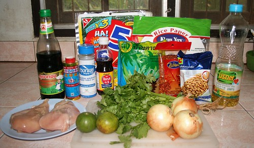 Thai Style Chicken Wraps Ingredients