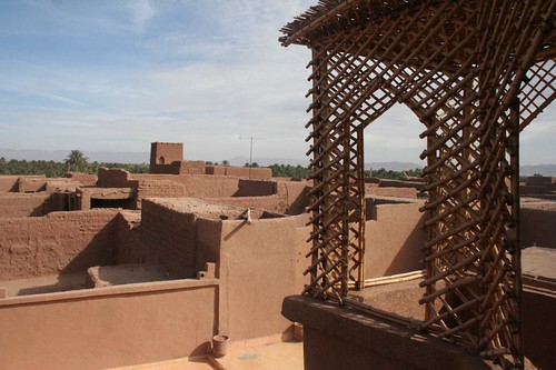 The terrace of the Hotel Kasbah Ziwana in Zagora