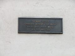 Photo of Thomas a Becket bronze plaque