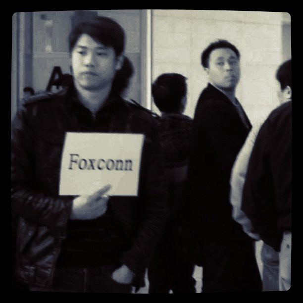 "You know you've landed in shanghai when you see people holding signs for ""FOXCONN"" at international arrivals"