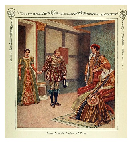 008-Porcia Bassanio Graciano y Nerisa-Shakespeare's comedy of the Merchant of Venice 1914- James D. Linton