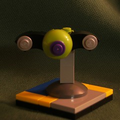 Fiver - Green Owl (Xarquar) Tags: lego space microship tablescrap microspacetopia
