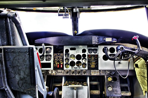Inside Caribou Cockpit