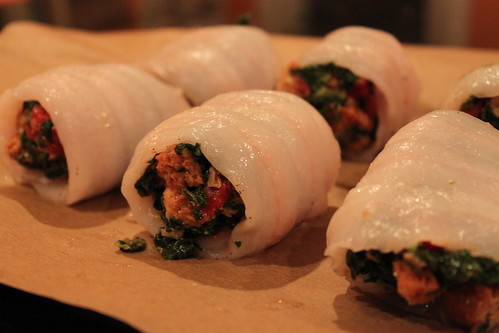 Florentine Fish Rolls, ready for the oven