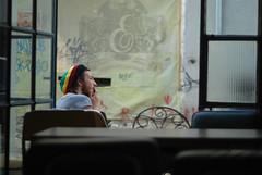 Renne (Anca Iordache) Tags: man guy nikon friend artist sitting jamaica painter thinking bucharest chiars lipscani ateliermecanic