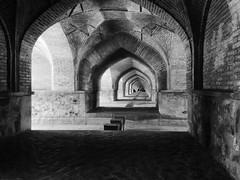 Under the bridge - Seh-o-Se Pol, Esfahan (b/w version) (Felix Krohn) Tags: iran 2016 esfahan isfahan esfehan gimp bw sehose pol bridge 29681651112439a0c4496odbw