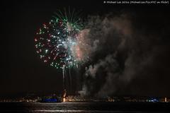New York Fireworks - 10/6/16 (DSC09342) (Michael.Lee.Pics.NYC) Tags: newyork fireworks 2016 libertyisland harbor night sony a7rm2 fe70300mmg