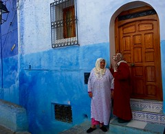Blue City (Lindsay Shanley) Tags: morocco muslim islam burka naqib hijab chefchaouen blue city bluecity study abroad studyabroad iphone africa explore outdoors human portrait candid