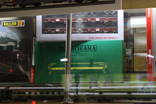 Australian RTR model trains in a Hong Kong hobby shop window