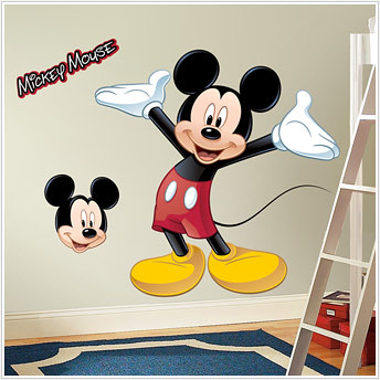 giant mickey kids decals
