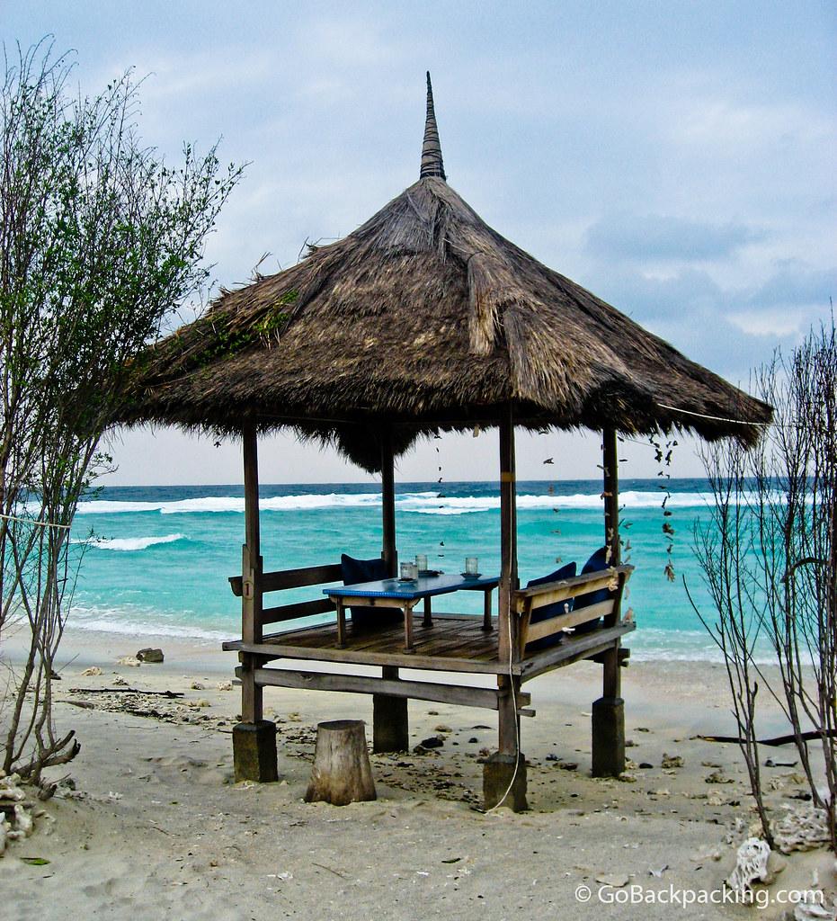 Hut on a deserted beach - Gili Trawangan