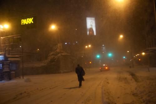 On Houston Street, New York Blizzard, January 26, 2011