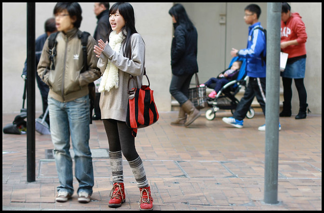 Hong Kong Street Fashion Sighting - Love her style