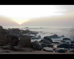 The Sunrise on the Beach (pvub) Tags: india beach sunrise vizag andhrapradesh