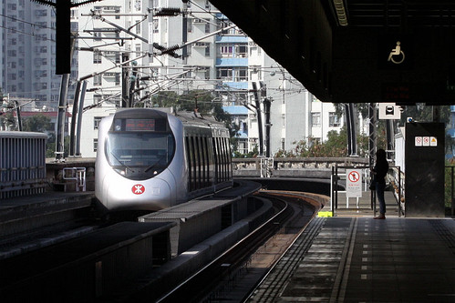 Train arrives at Che Kung Temple station