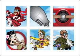 free Flying Colors slot game symbols