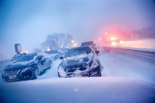 Abandoned Cars on Lake Shore Drive