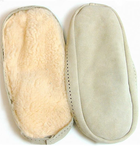 New suede slipper soles for my Bunny Hop slippers!