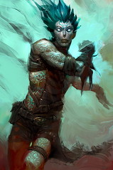 Copy_of_Windsoul_genasi2 (Dorian Dale) Tags: tattoo monk warrior genasi