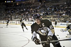 Sidney Crosby in warm ups (Dave DiCello) Tags: hockey nhl nikon ups warms sidneycrosby pittsburghpenguins colorefex evgenimalkin d700 nikond700 consolenergycenter davedicello hdrexposed