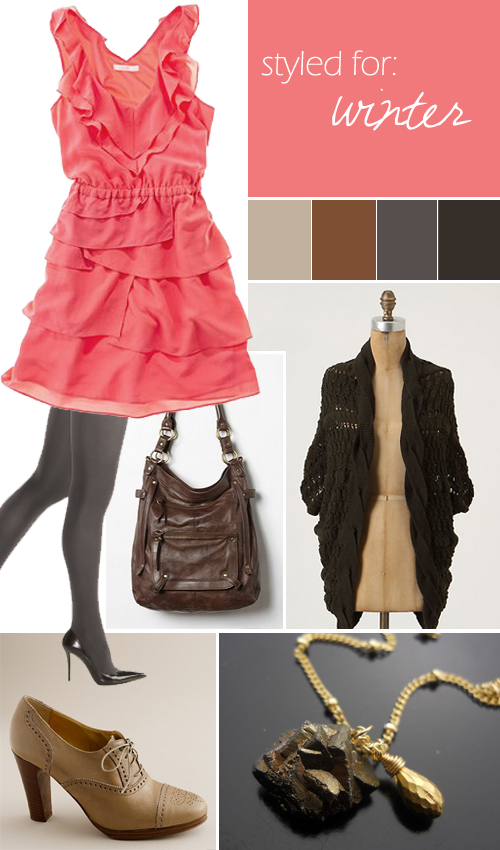 madewell-coral-jewel-toned-dress-winter