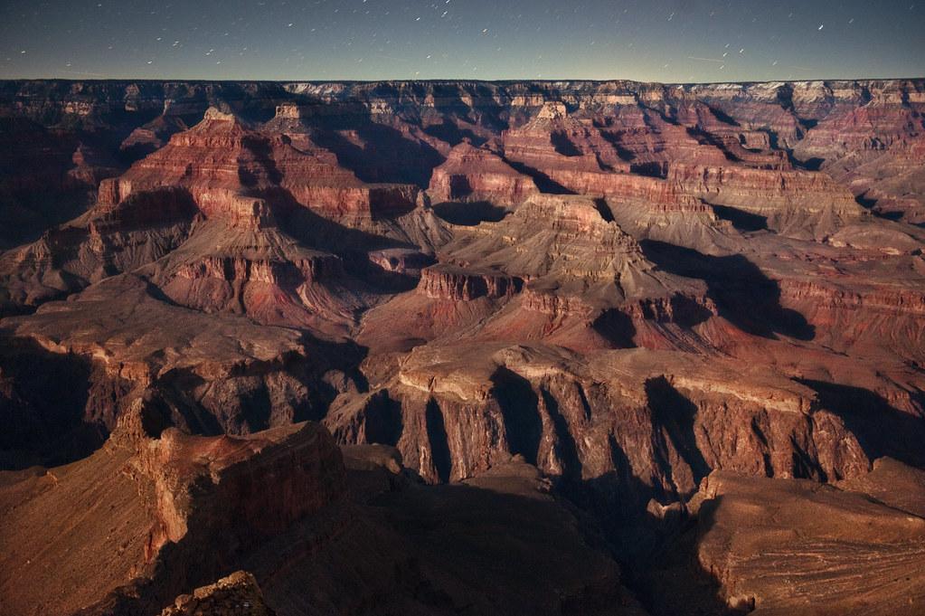 Canyon and moonshadow
