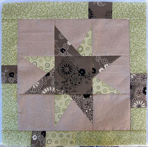 wonkey stars quilt block