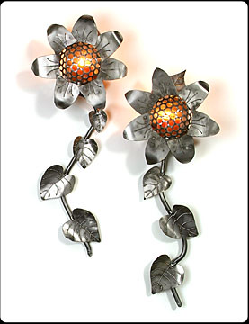 Sunflower Steel Sconces