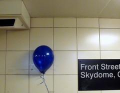 at the union exit (dmixo6) Tags: winter urban toronto canada subway ttc balloon security transit dugg dmixo6