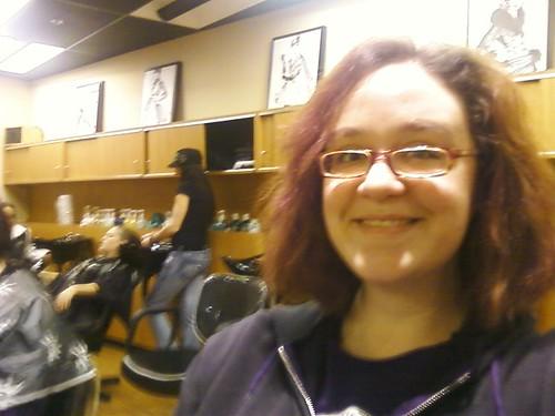 High off haircut endorphins!
