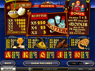 free From Russia with Love slot mini symbol