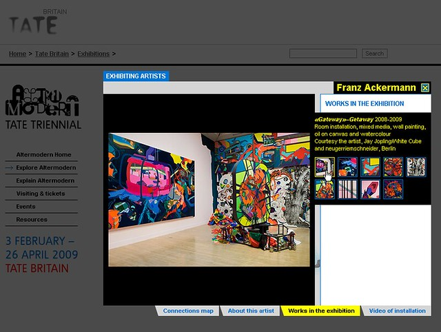 Altermodern exhibition microsite
