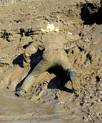 36 WS Last chance to catch me up mudbank (Wrangswet) Tags: wet mud hiking wetlook wallow riverhike swimmingfullyclothed muddycowboy wetcowboy swimminginjeans muddycowboyboots mudwallow wetwranglerjeans muddywranglerjeans muddyswimmingfullyclothed