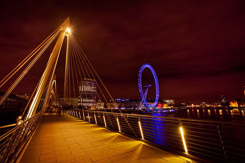 Golden Jubilee Bridge & the London Eye