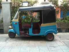 Rick Shaw (praram) Tags: auto travel blue india love colors wonder traveller vagina autorickshaw iphone