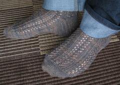Hedera Socks (f95lean) Tags: socks knitting lace knitty cookiea knitsocklove