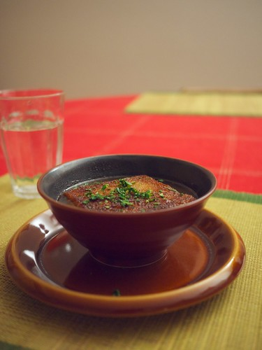 Garlic-Paprika Soup (Sopa Castiliana)